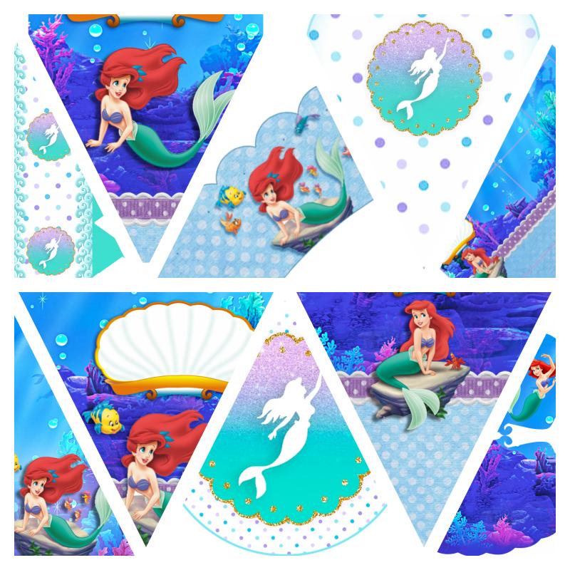 Kit Festa Ariel Pequena Sereia para imprimir
