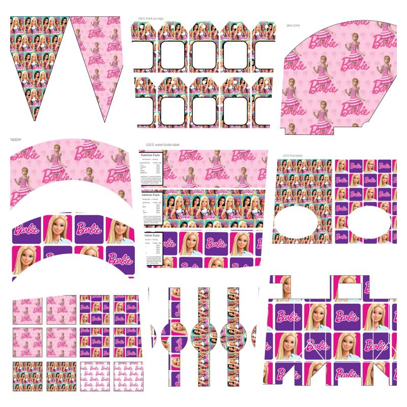 kit festa barbie para imprimir