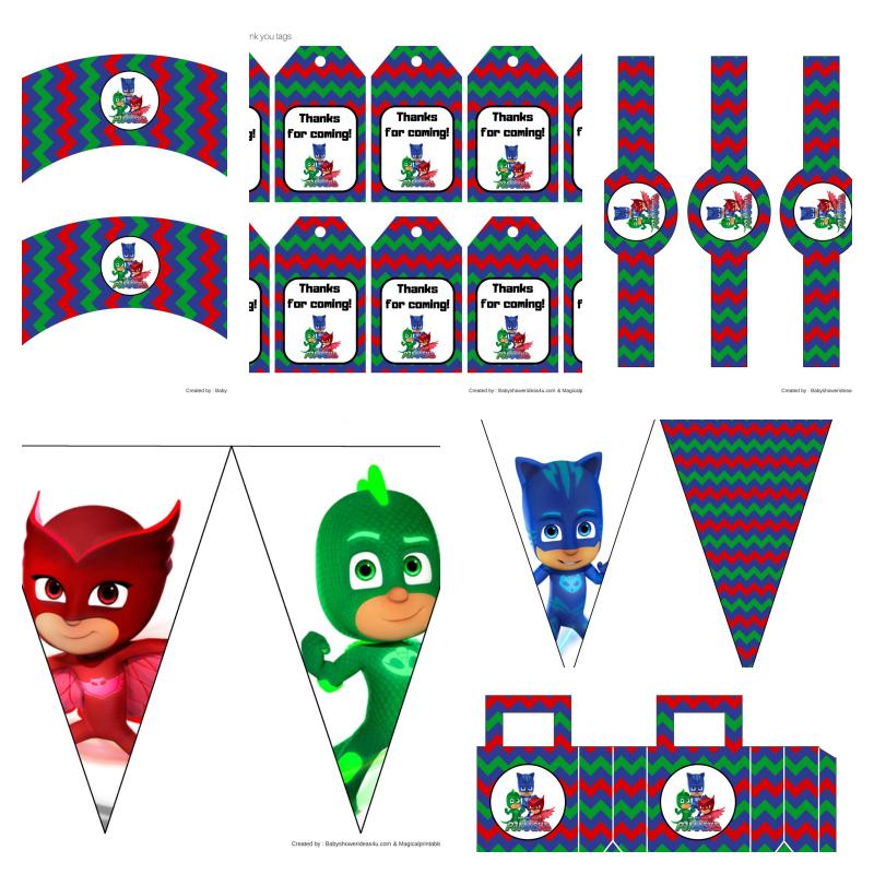 kit festa pj masks para imprimir