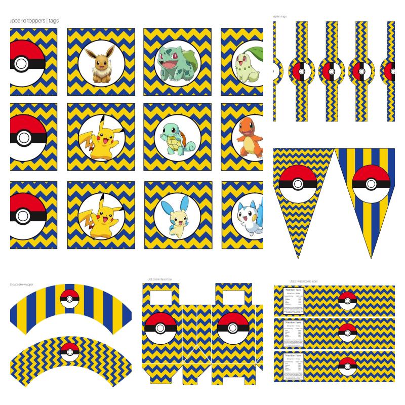 kit festa pokemon para imprimir