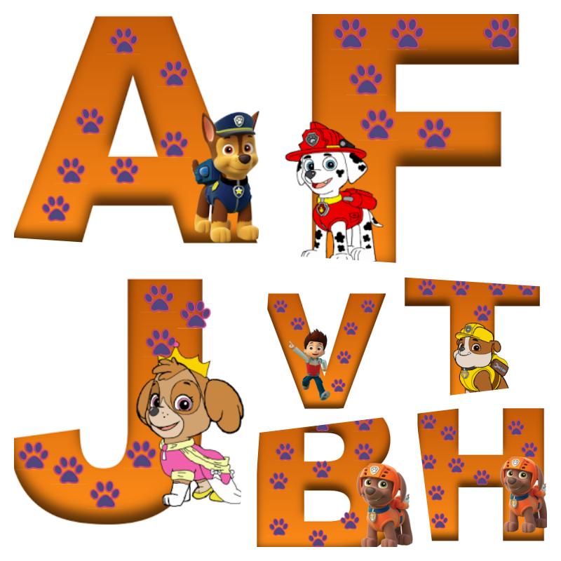 alfabeto patrulha canina