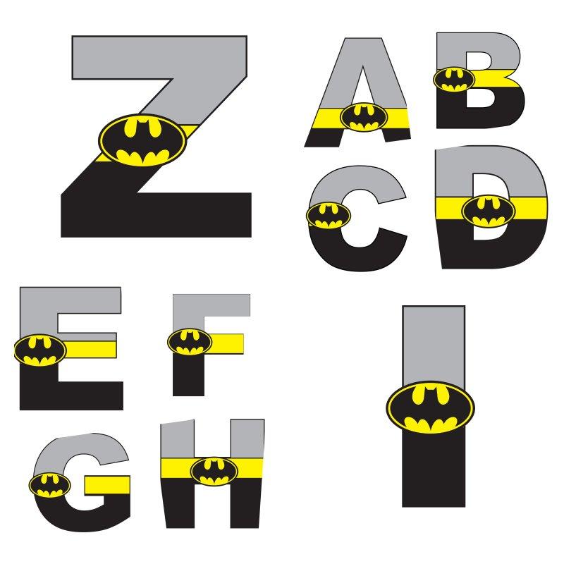alfabeto personalizado batman