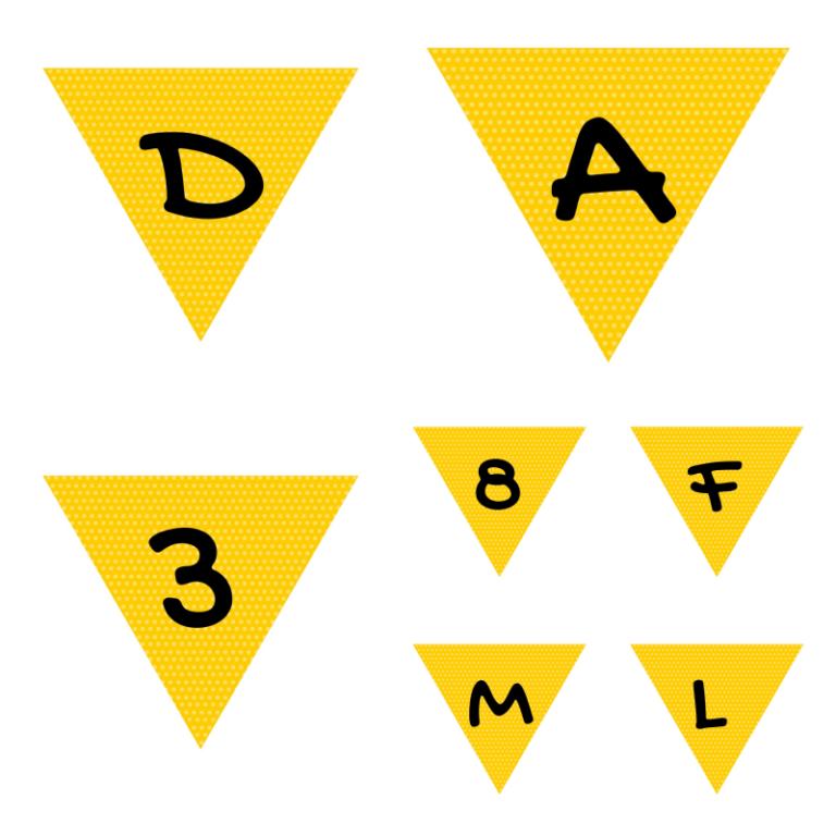 alfabeto personalizado mickey