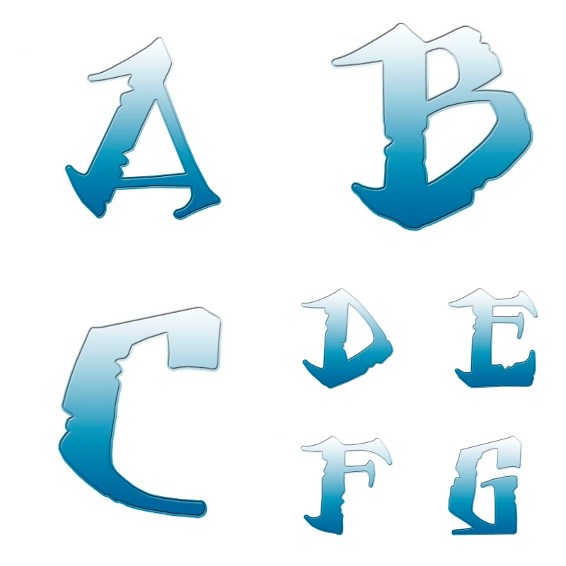 alfabeto personalizado moana