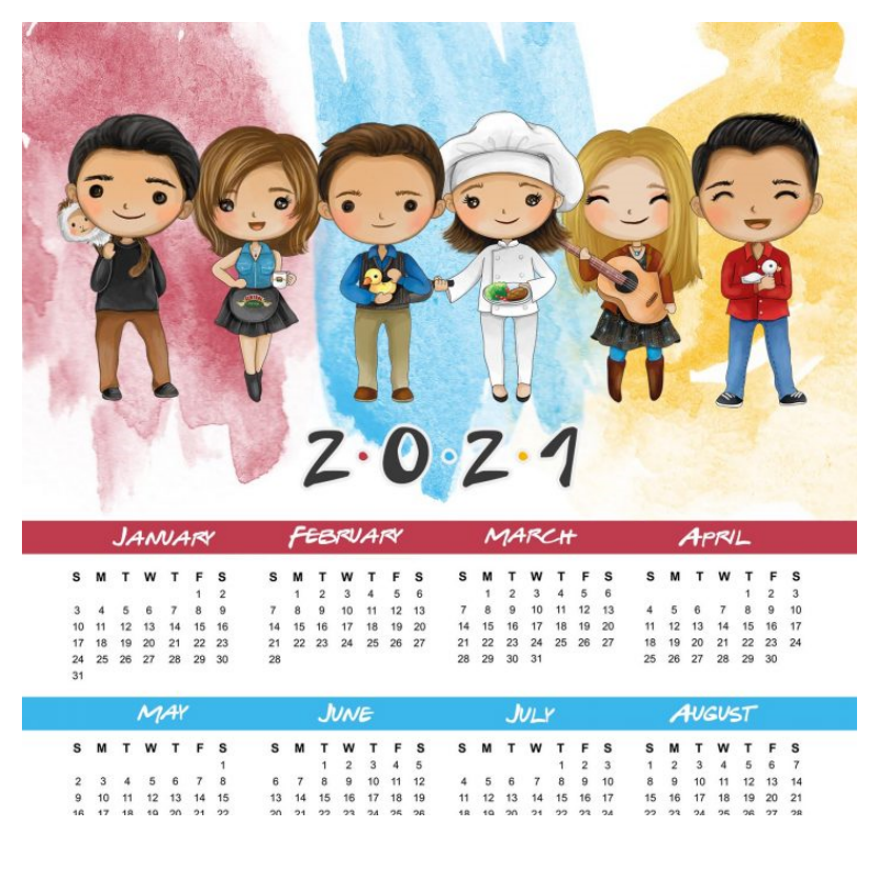 calendario anual baby friends2