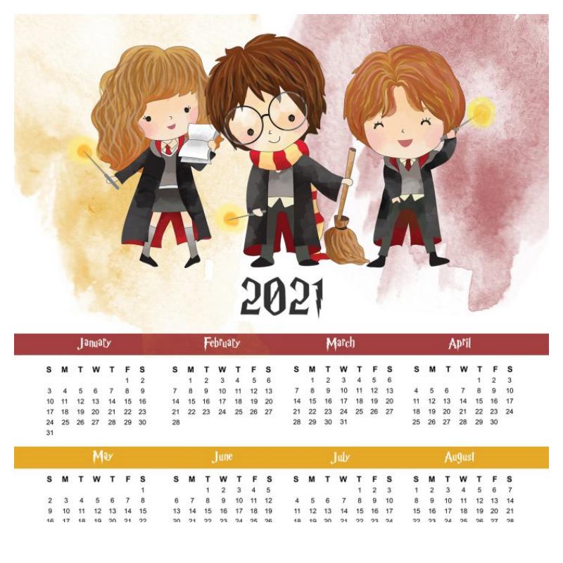 calendario anual baby harry potter2