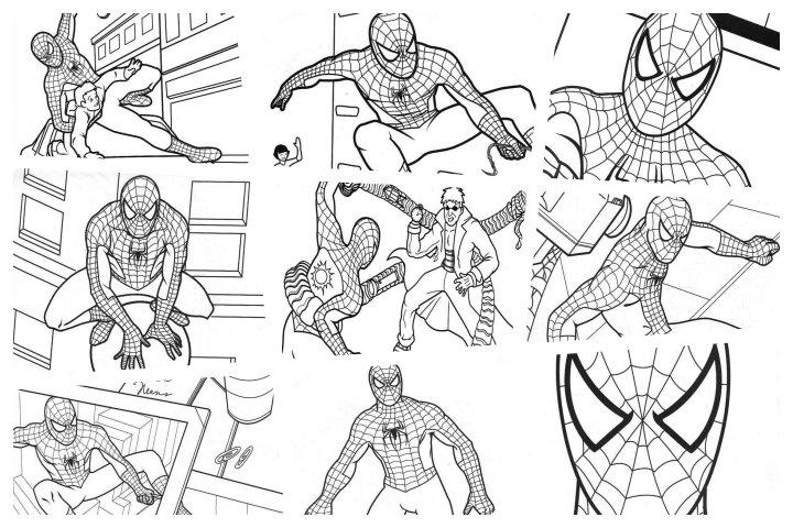 desenhos para colorir homem aranha