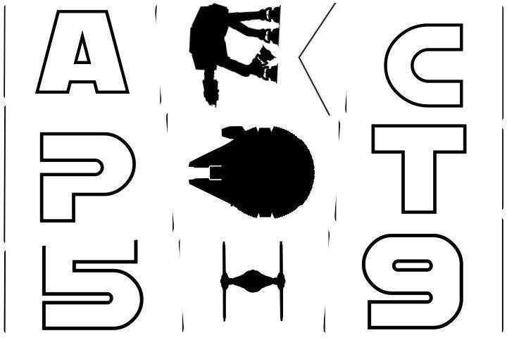 alfabeto personalizado star wars