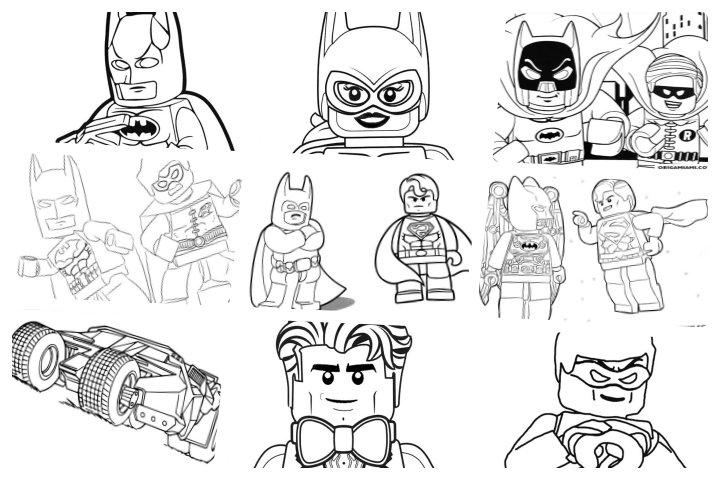 desenhos para colorir lego batman