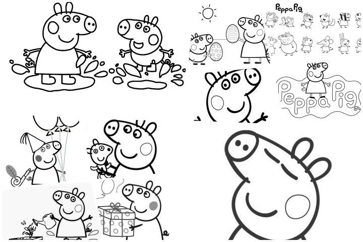 desenhos para colorir peppa pig