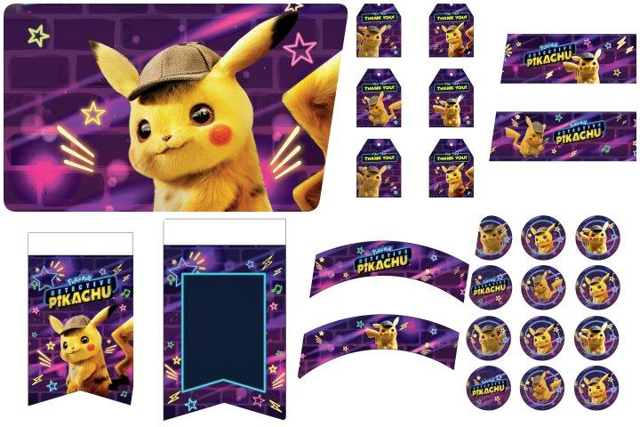 kit festa detetive pikachu