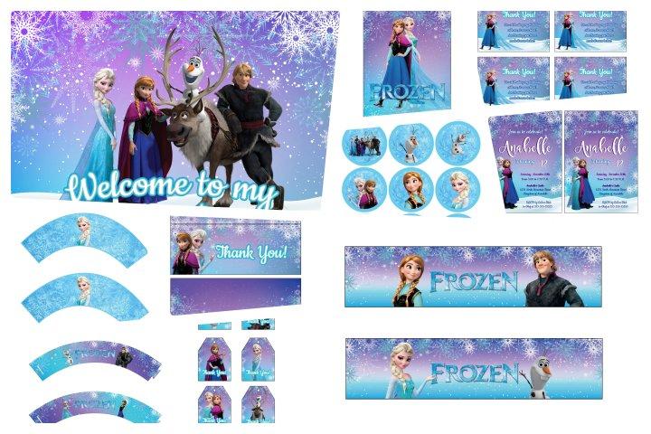 kit festa para imprimir frozen
