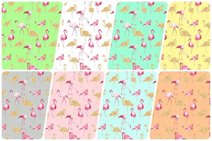 kit papel digital flamingo
