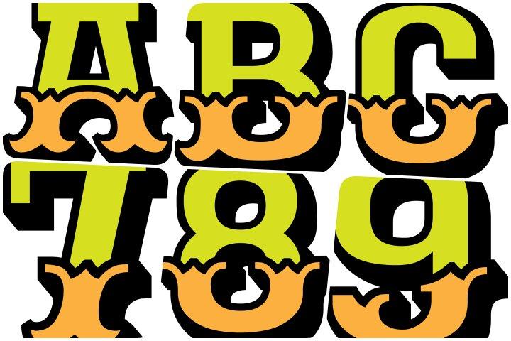 alfabeto personalizado circo para imprimir