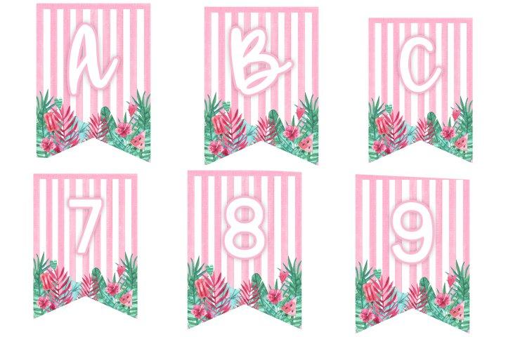 alfabeto personalizado flamingo