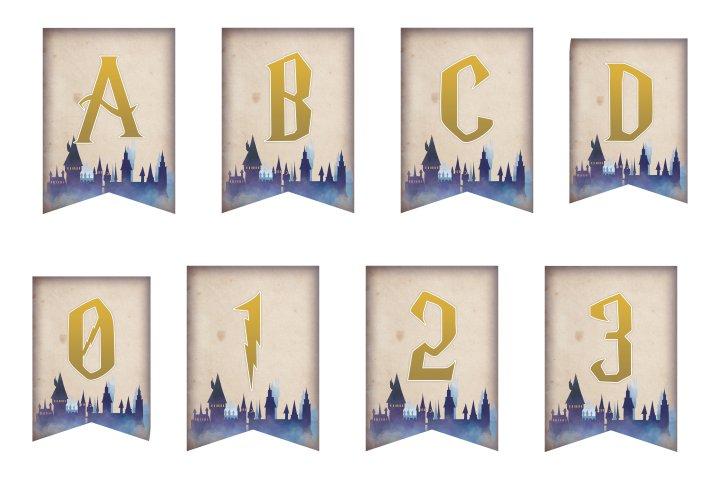 alfabeto personalizado harry potter