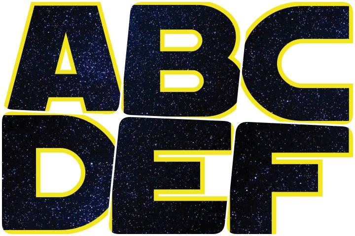 alfabeto personalizado star wars original