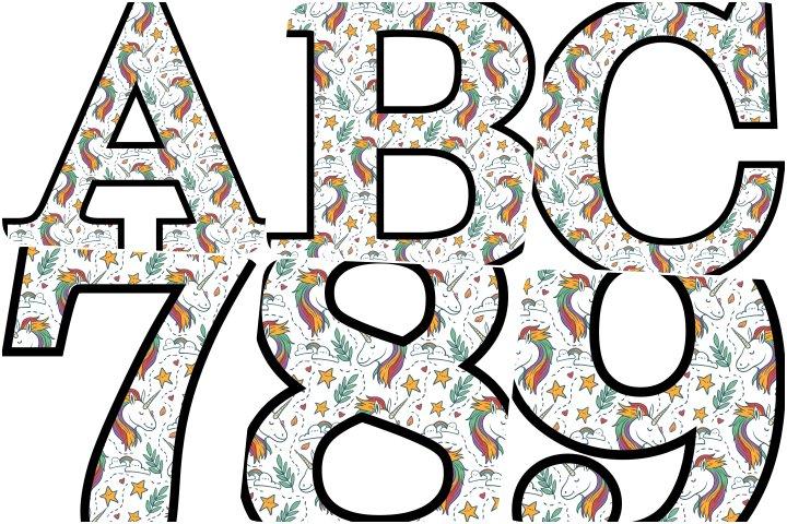 alfabeto personalizado unicórnio 6