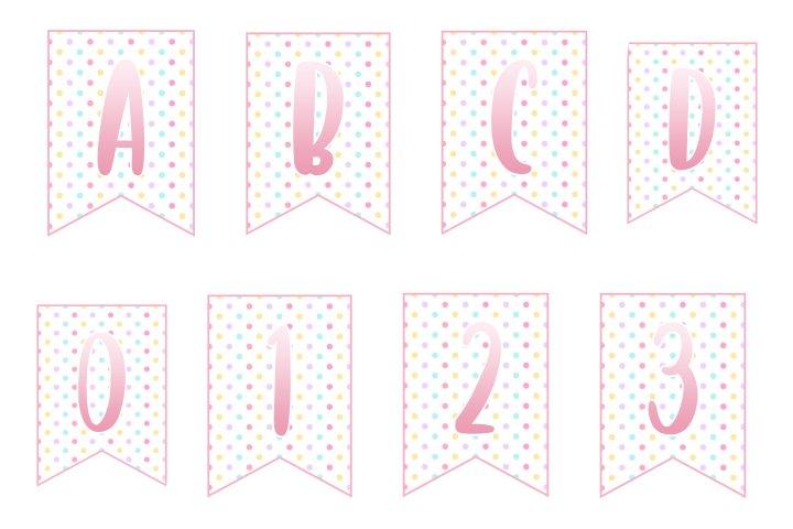 alfabeto personalizado unicornio