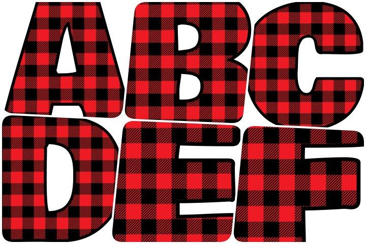 alfabeto personalizado xadrez vermelho