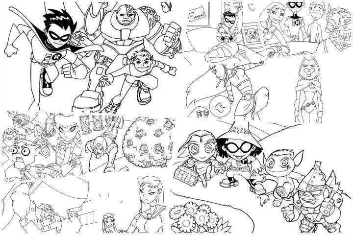 desenhos jovens titans para imprimir