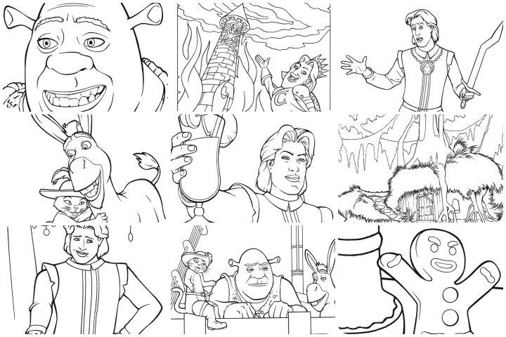 desenhos para colorir shrek terceiro