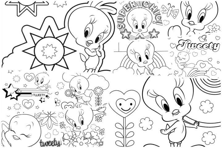 desenhos piu piu para colorir