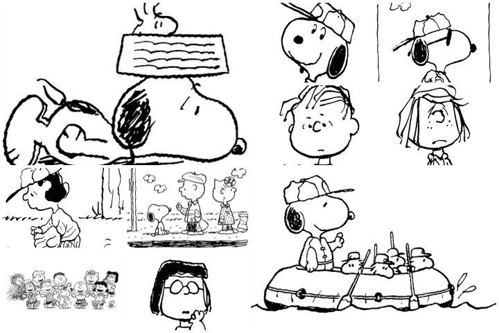 desenhos snoopy para colorir