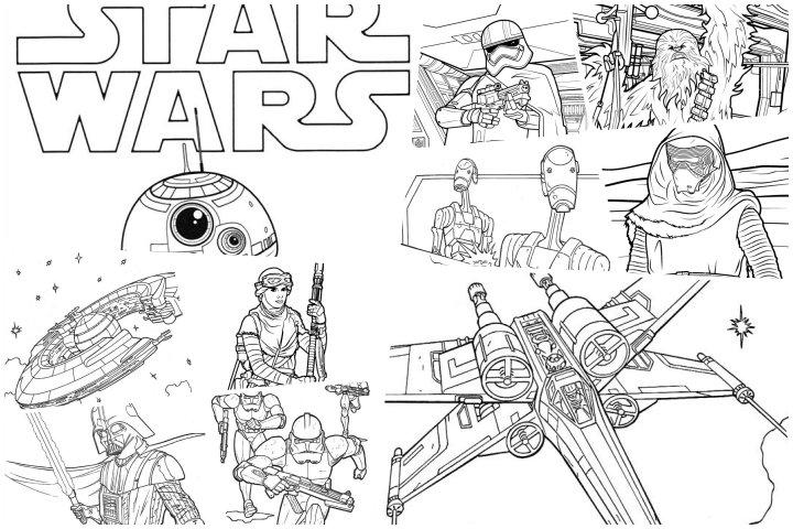 desenhos star wars para colorir