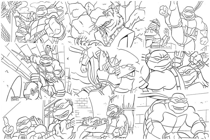 desenhos tartaruga ninja para colorir