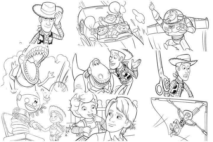 desenhos toy story 3 para colorir