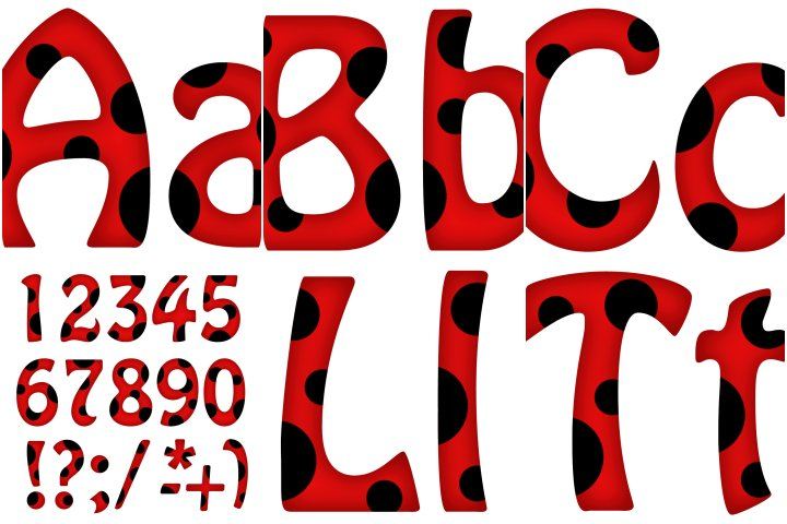 Alfabeto personalizado LadyBug para imprimir