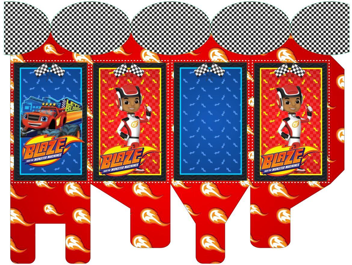 Caixa com Abas-blaze the monster machines