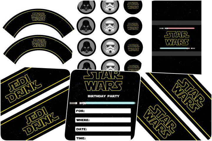 kit festa star wars para imprimir