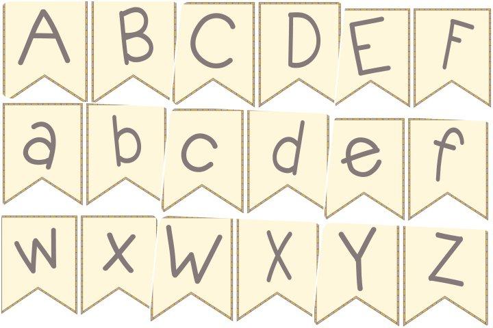 alfabeto personalizado bandeirinhas