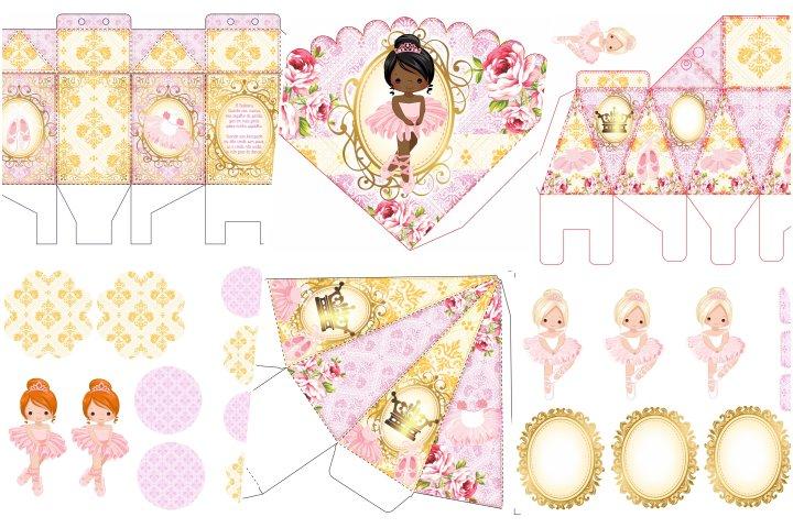 kit festa bailarina rosa para imprimir