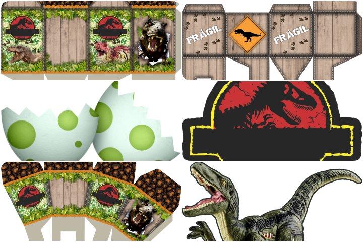 kit festa dinossauro para imprimir