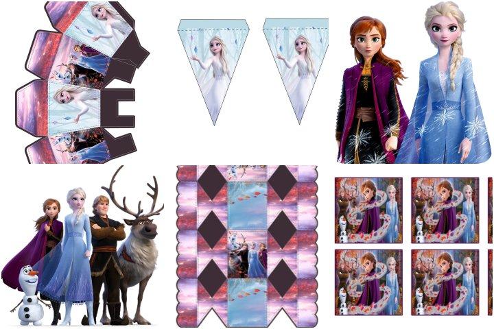 kit festa frozen 2 para imprimir