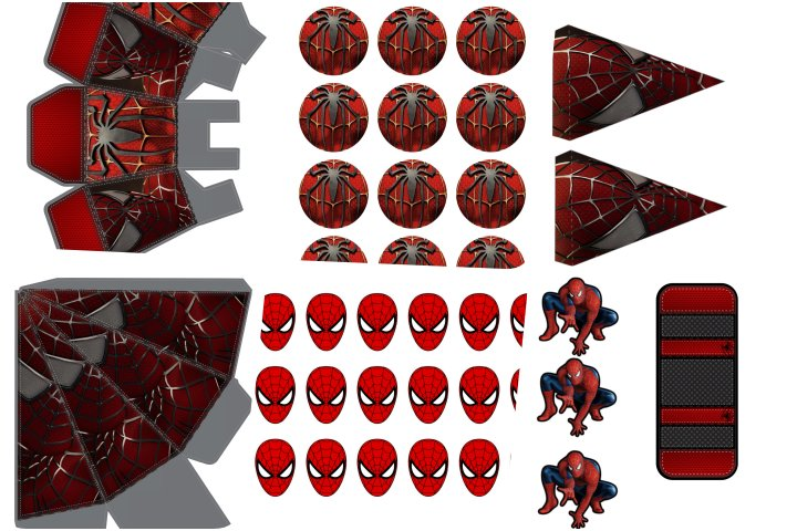 kit festa homem aranha para imprimir