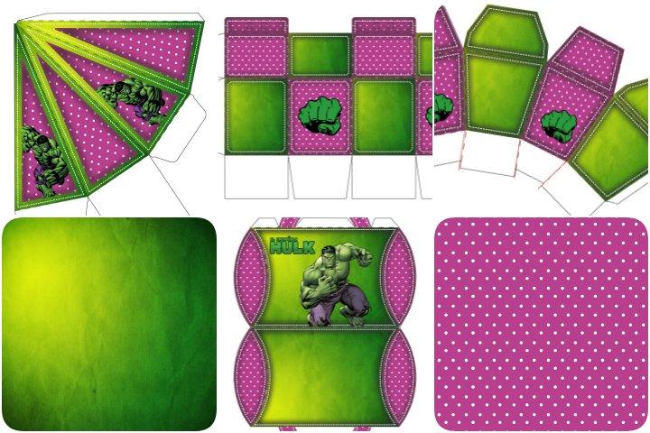 kit festa hulk verde e rosa para imprimir