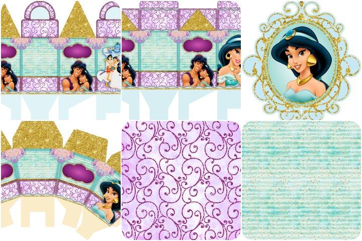 kit festa jasmine para imprimir