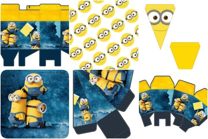 kit festa minions para imprimir