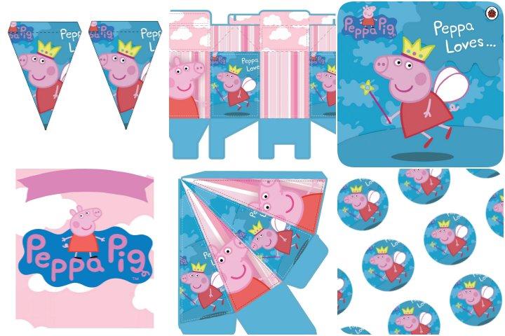 kit festa peppa pig rosa e azul para imprimir