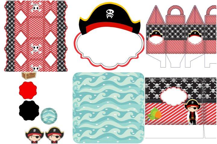 kit festa pirata para imprimir