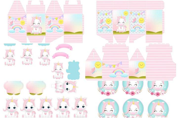 kit festa unicornio cute para imprimir