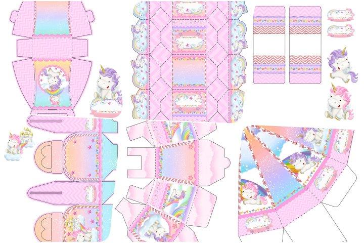 kit festa unicornio rosa para imprimir