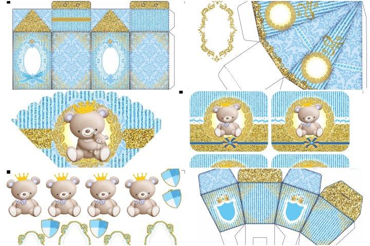 kit festa ursinho principe para imprimir