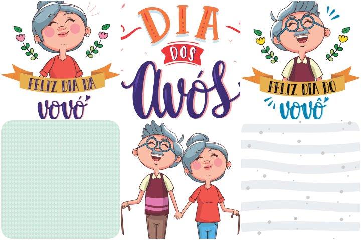 papeis e elementos dia dos avos para imprimir