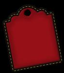 tag minnie amarelo e vermelho
