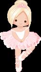 topo de bolo bailarina rosa 2